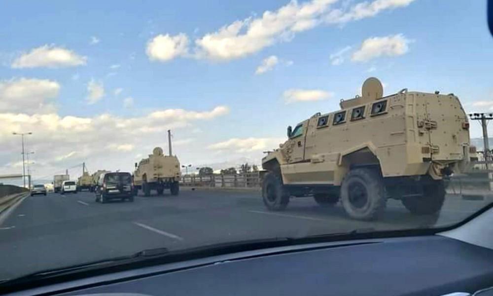 Στον Έβρο τα στρατιωτικά οχήματα που είδαμε στην Εθνική Οδό