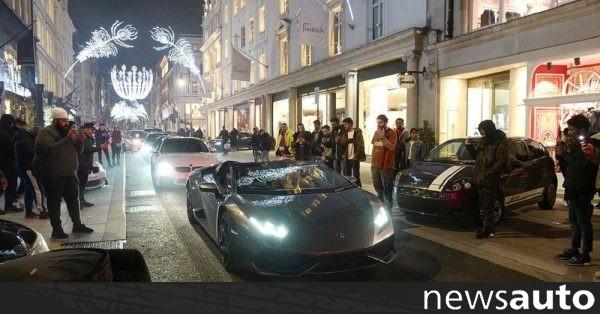 """""""Παρέλαση"""" με τους Lamborghini, Mercedes και Porsche ενάντια στον … κοραναϊό!"""