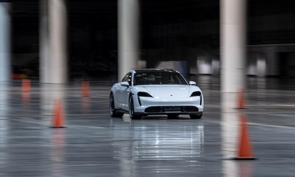 Porsche Taycan Indoor Record