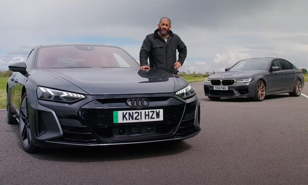 Audi RS e-tron GT vs BMW M5 CS