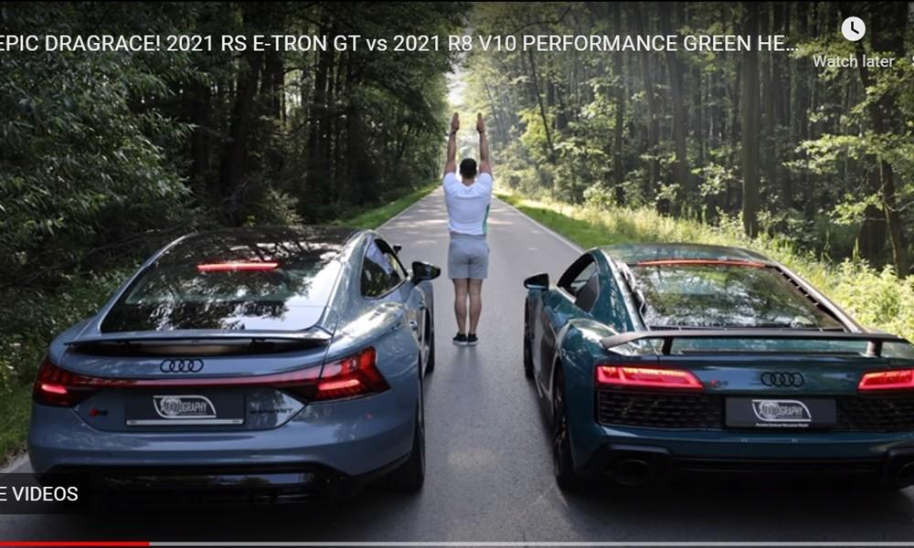 Audi e-tron GT vs R8