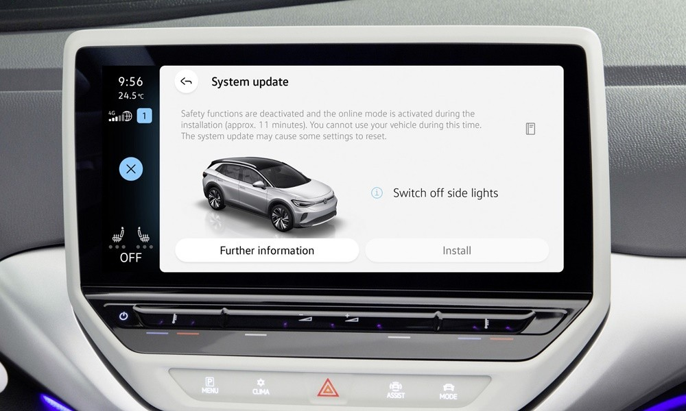 VW Over-The-Air Software Update
